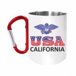 "Кружка с ручкой ""карабин"" Eagle USA"