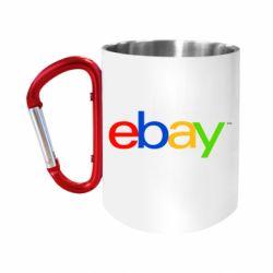 Кружка з ручкою-карабіном Ebay