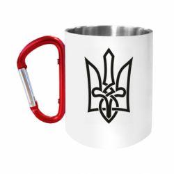 """Кружка с ручкой """"карабин"""" Emblem 22"""