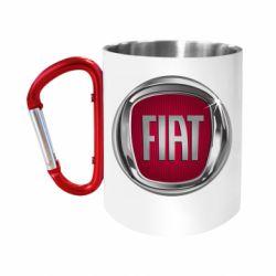 Кружка з ручкою-карабіном Emblem Fiat
