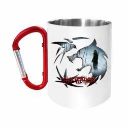 "Кружка с ручкой ""карабин"" Emblem wolf and text The Witcher"