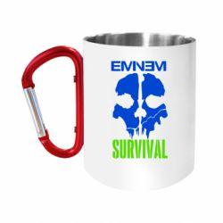 Кружка з ручкою-карабіном Eminem Survival