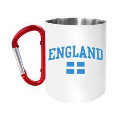 Кружка з ручкою-карабіном England