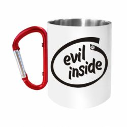 """Кружка с ручкой """"карабин"""" Evil Inside"""