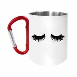 Кружка з ручкою-карабіном Eyelashes