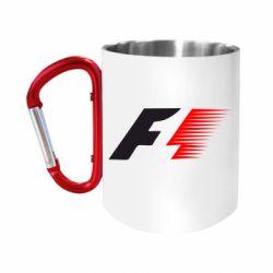 """Кружка с ручкой """"карабин"""" F1"""