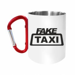 Кружка з ручкою-карабіном Fake Taxi