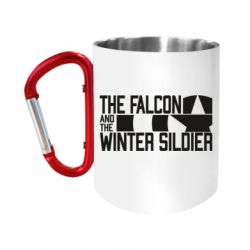 """Кружка з ручкою """"карабін"""" Falcon and winter soldier logo"""