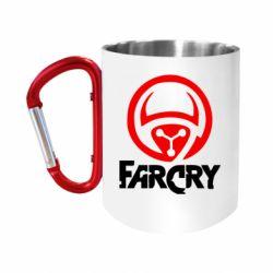 """Кружка с ручкой """"карабин"""" FarCry LOgo"""