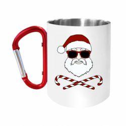 Кружка з ручкою-карабіном Fashionable Santa