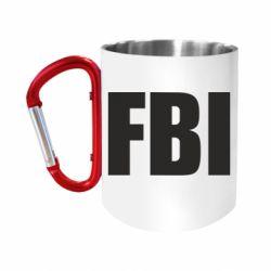 """Кружка с ручкой """"карабин"""" FBI (ФБР)"""