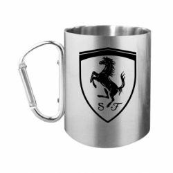 Кружка з ручкою-карабіном Ferrari horse