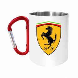 "Кружка с ручкой ""карабин"" Ferrari"