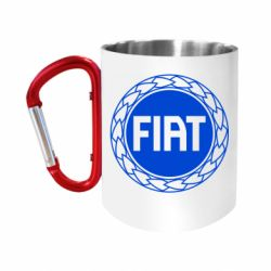 Кружка з ручкою-карабіном Fiat logo