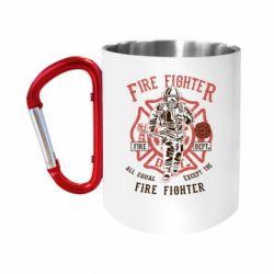 Кружка з ручкою-карабіном Fire Fighter