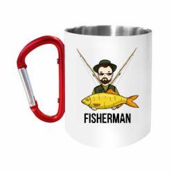 Кружка з ручкою-карабіном Fisherman and fish