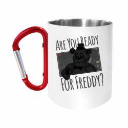 """Кружка с ручкой """"карабин"""" Five Nights at Freddy's 1"""