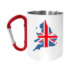 """Кружка с ручкой """"карабин"""" Флаг Англии"""