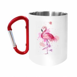"""Кружка с ручкой """"карабин"""" Flamingo pink and spray"""