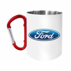 "Кружка с ручкой ""карабин"" Ford 3D Logo"