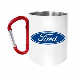 Кружка з ручкою-карабіном Ford Logo