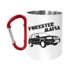 """Кружка с ручкой """"карабин"""" Forester Mafia"""