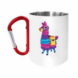 """Кружка с ручкой """"карабин"""" Fortnite colored llama"""