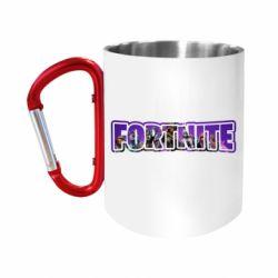 Кружка з ручкою-карабіном Fortnite logo and image