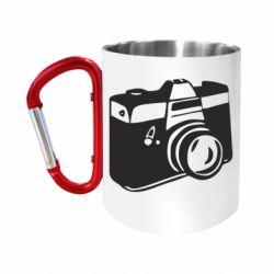 Кружка з ручкою-карабіном Фотоапарат