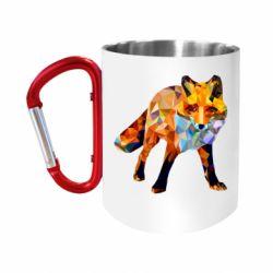Кружка з ручкою-карабіном Fox broken
