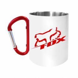 """Кружка с ручкой """"карабин"""" FOX Racing"""