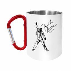 Кружка з ручкою-карабіном Freddie Mercury Queen