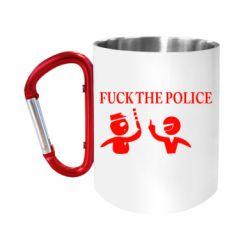 """Кружка с ручкой """"карабин"""" Fuck the Police"""