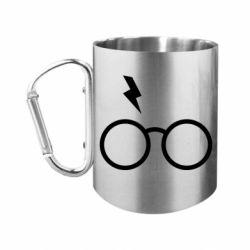 Кружка з ручкою-карабіном Гаррі Поттер лого