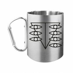"""Кружка с ручкой """"карабин"""" Genesis Evangelion Seele logo"""