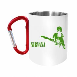 Кружка з ручкою-карабіном Гітарист Nirvana