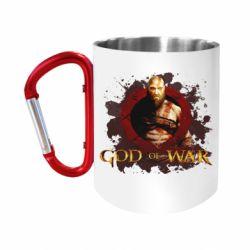 Кружка з ручкою-карабіном God of War