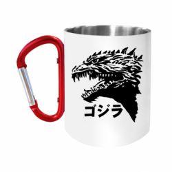 Кружка з ручкою-карабіном Godzilla in japanese