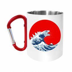 """Кружка з ручкою """"карабін"""" Godzilla Wave"""