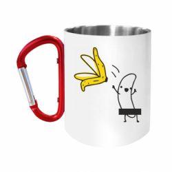 """Кружка с ручкой """"карабин"""" Голый банан"""