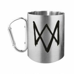 "Кружка с ручкой ""карабин"" Graffiti Watch Dogs logo"