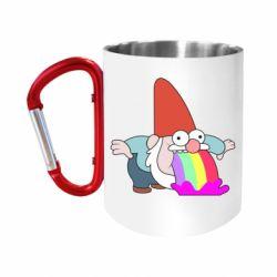Кружка з ручкою-карабіном Gravity Falls, dwarf and rainbow