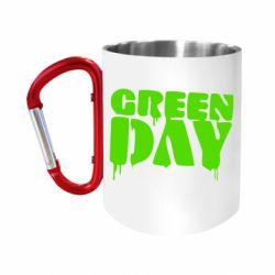 "Кружка с ручкой ""карабин"" Green Day"