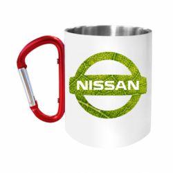 Кружка з ручкою-карабіном Green Line Nissan