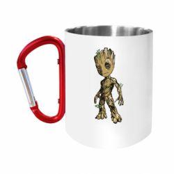 """Кружка с ручкой """"карабин"""" Groot teen"""
