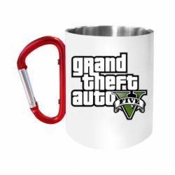 "Кружка с ручкой ""карабин"" GTA V Maine Logo"