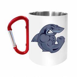 Кружка з ручкою-карабіном Gym Shark