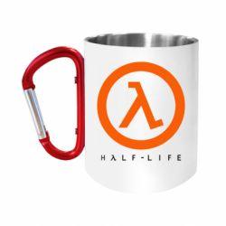 """Кружка с ручкой """"карабин"""" Half-life logotype"""