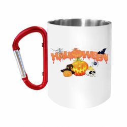 """Кружка с ручкой """"карабин"""" Halloween Logo"""