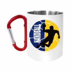 """Кружка с ручкой """"карабин"""" Handball Logo"""